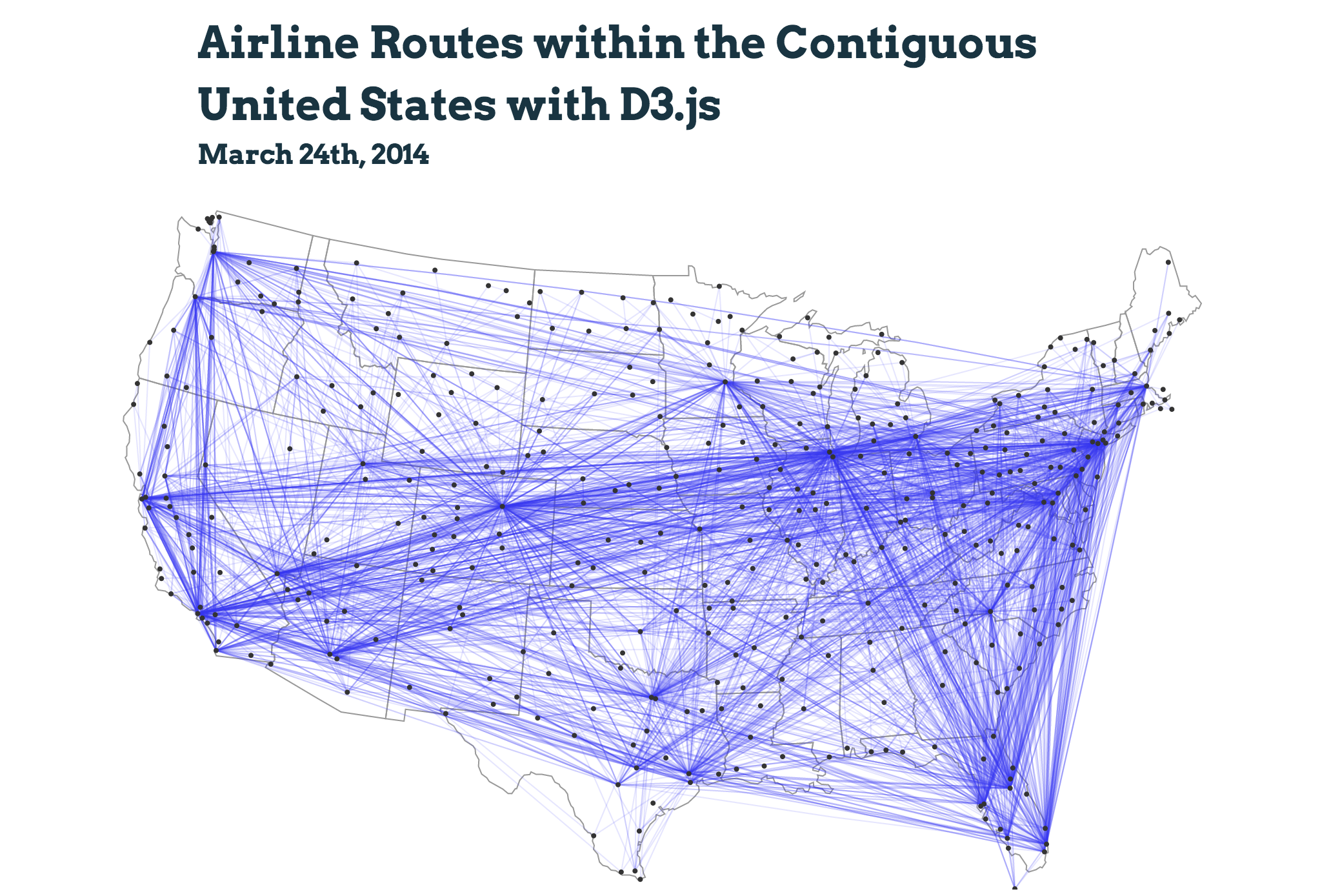 Airline routes preview